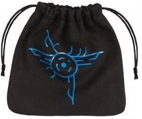 Q-Workshop Dice Bag - Galactic Black With Blue