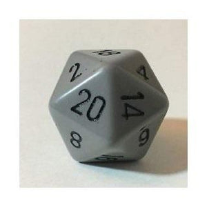 Opaque D20 34mm Dk Gray With Black Single