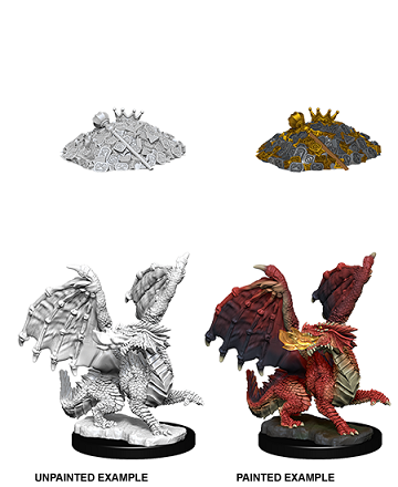 Dungeons & Dragons : Nolzur's Marvelous Unpainted Miniatures - Red Dragon Wyrmling