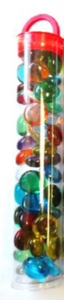 Glass Stones Translucent Mixed Colors Qty 40 Tube