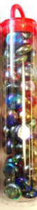 Glass Stones Iridized Mixed Colors Qty 40 Tube