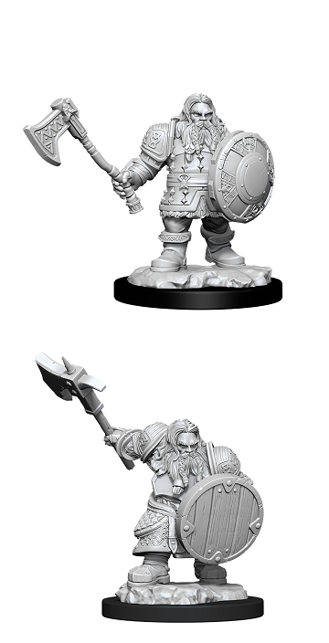 Dungeons & Dragons Nolzur's Marvelous Miniatures Wv 11 - Male Dwarf Fighter