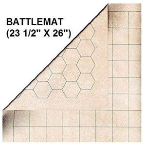 "Battlemat 1 ""Reversible Square Or Hex - 26"" X 23½ ""(66x60cm)"