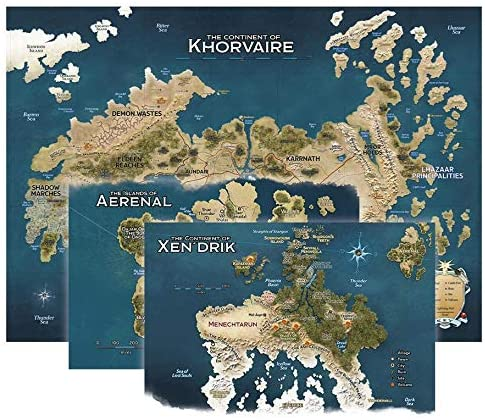 Dungeon & Dragons Map Set : Eberron Nations For Khorvaire
