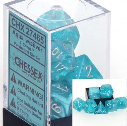 Cirrus 7-Die Set Aqua With Silver