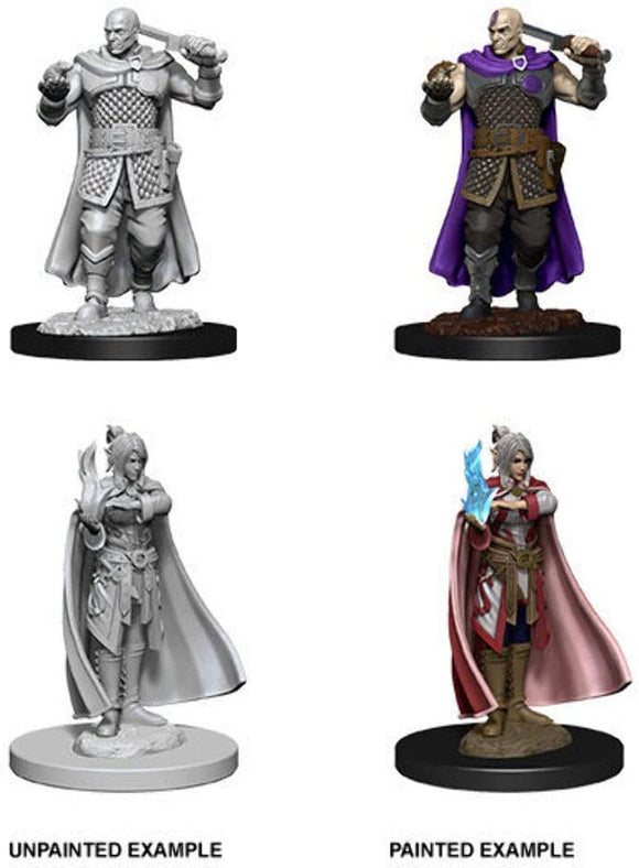 Dungeons & Dragons : Nolzur's Marvelous Unpainted Miniatures - Human Ranger & Moon Elf