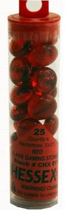 """Glass Stones Red, Qty 40 / 5.5 """"Tube"""