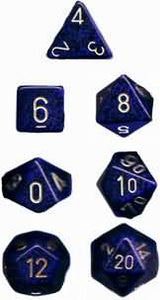 Speckled 7-Die Set Golden Cobalt