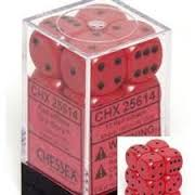Opaque 12d6 Red With Black 16mm