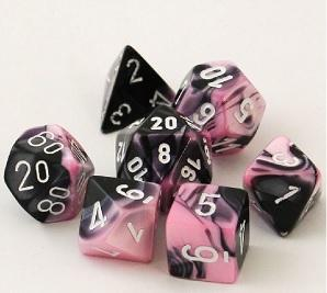 Gemini 7-Die Set Black-Pink With White
