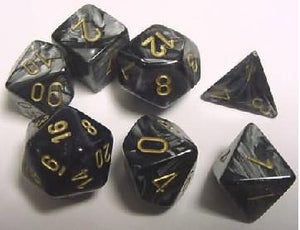 Lustrous 7-Die Set Black With Gold