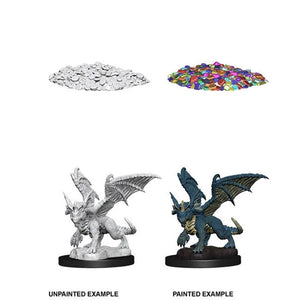 Dungeons & Dragons: Nolzur's Marvelous Unpainted Miniatures - Blue Dragon Wyrmling