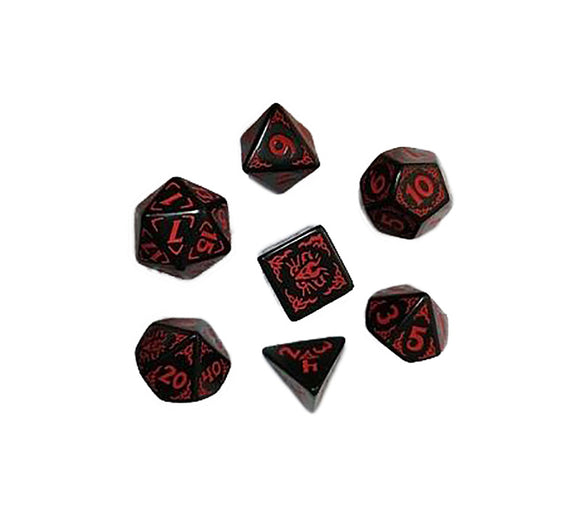 Dragon Of The Red Moon 7 Dice Set