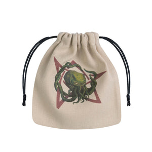Q-Workshop Dice Bag - Cthulhu Head (Beige)