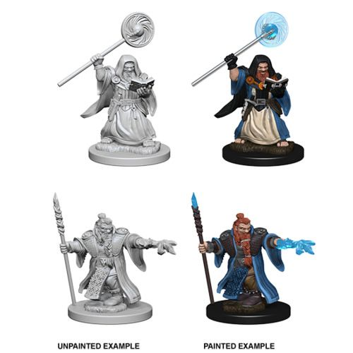 Dungeons & Dragons : Nolzur's Marvelous Unpainted Miniatures - Dwarf Male Wizard