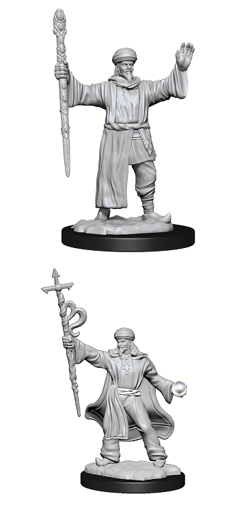 Dungeons & Dragons : Nolzur's Marvelous Unpainted Miniatures - Human Wizard Male