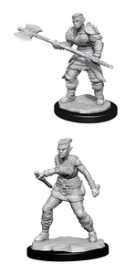 Dungeons & Dragons: Nolzur's Marvelous Unpainted Miniatures - Orc Barbarian Female