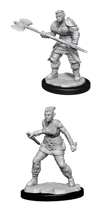 Dungeons & Dragons : Nolzur's Marvelous Unpainted Miniatures - Orc Barbarian Female