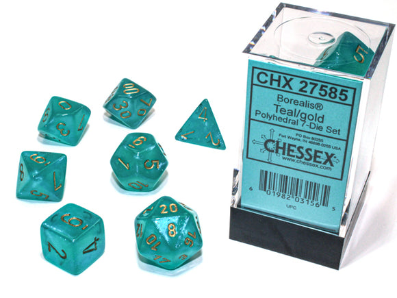 Borealis 7-Die Teal/Gold with Luminary