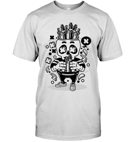 Vape Skull Cartoon T-Shirt - Bekker Clothing