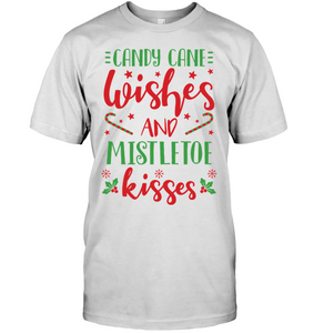 Candy Cane Wishes and Kisses T-Shirt - Bekker Clothing