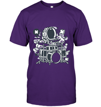 Load image into Gallery viewer, Astronaut Drummer Cartoon T-Shirt - Bekker Clothing