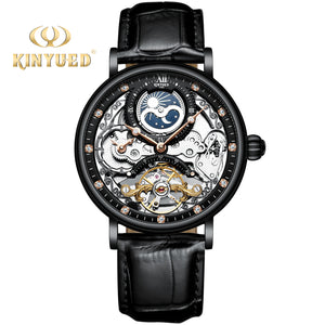 KINYUED OEM good quality luxury wholesale waterproof mechanical movement stainless steel watch
