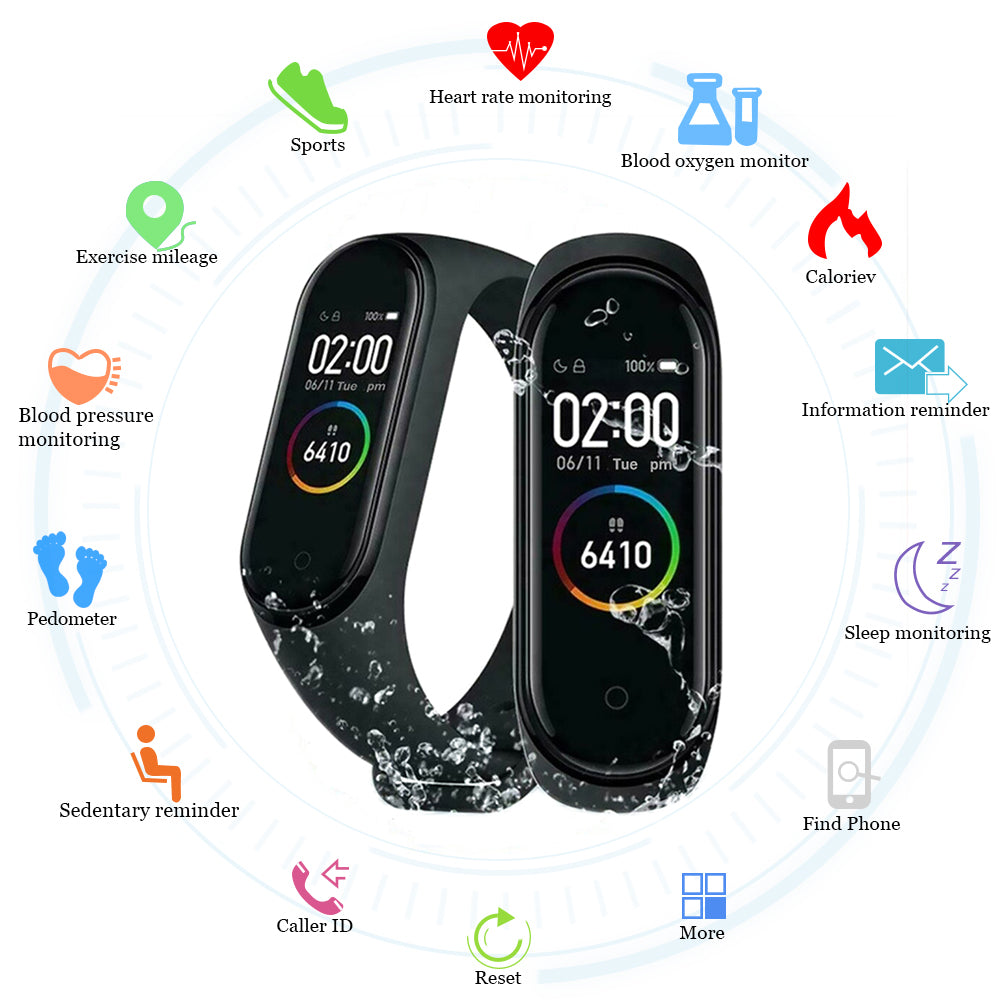 New M4 Smart Band Fitness Tracker
