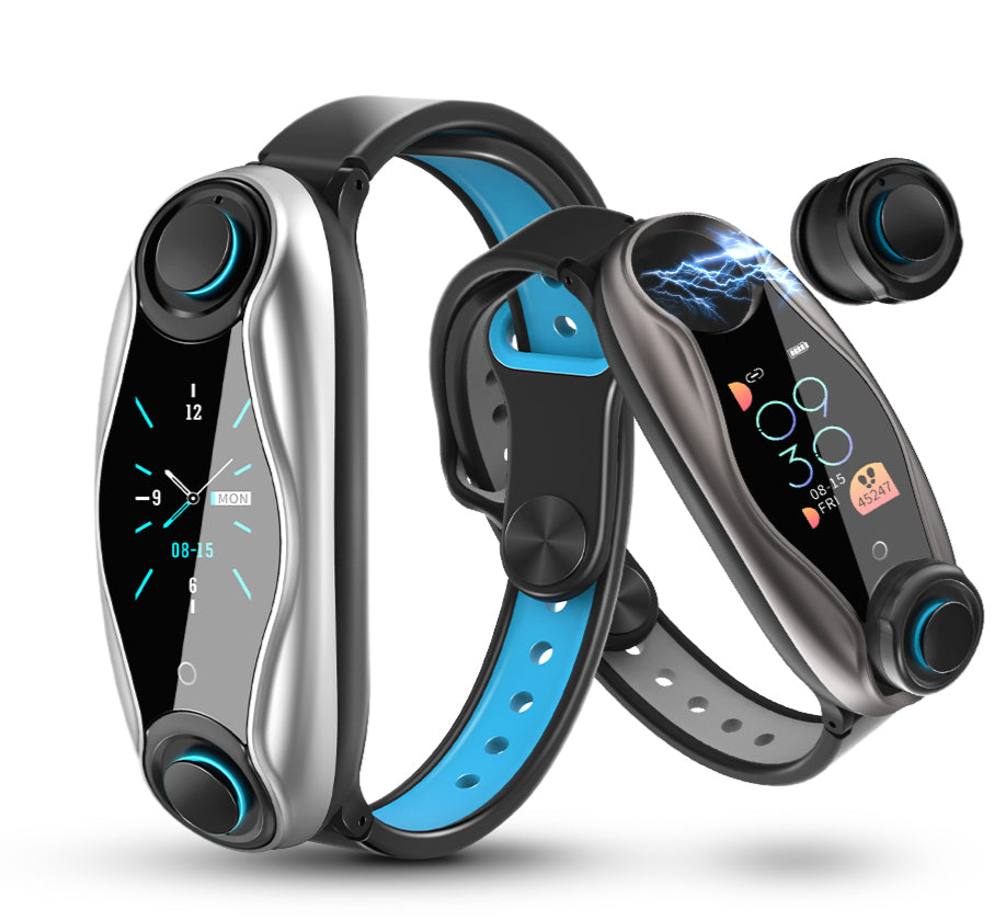 2 In 1 Smart Watch & Fitness Bracelet Wireless Bluetooth Earphone