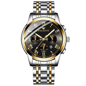 Brand Men Watches Quartz Silver-gold