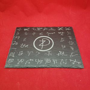 7x9 Slate altar tile w/ all Dukante spirits