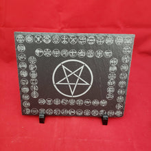 Load image into Gallery viewer, 8x10 Slate altar tile w/ all 72 goetia