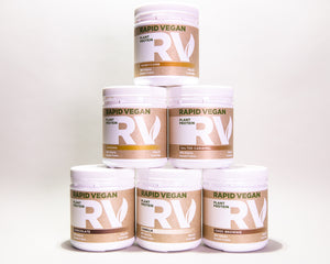 Rapid Vegan Protein combines the smoothness of Watermelon, Pumpkin and Sunflower seed protein with Organic Pea and Brown rice  to give a high quality creamy protein that inproves recovery, vitality and good health.