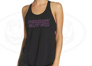 Derrimut 24:7 Gym Retro Ladies Racer Singlet - Red