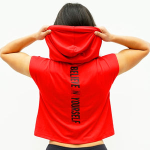 Derrimut 24:7 Gym Ladies Sleeveless Crop Hoodie