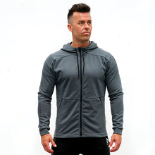 Load image into Gallery viewer, Derrimut 24:7 Gym Zip Up Jacket – Mens - Charcoal