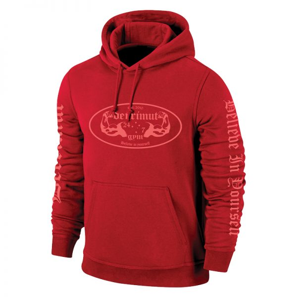 Derrimut 24:7 Gym Vintage Hoodie – Limited Edition Red
