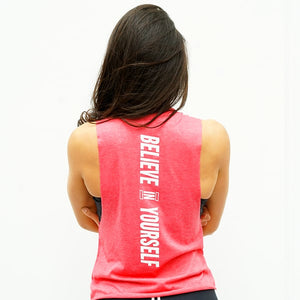 Derrimut 24:7 Gym Ladies Muscle Cut Singlet - Red