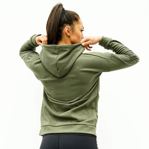 Derrimut 24:7 Gym Ladies Zip Up Jacket - Olive Green