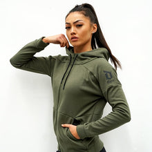 Load image into Gallery viewer, Derrimut 24:7 Gym Ladies Zip Up Jacket - Olive Green