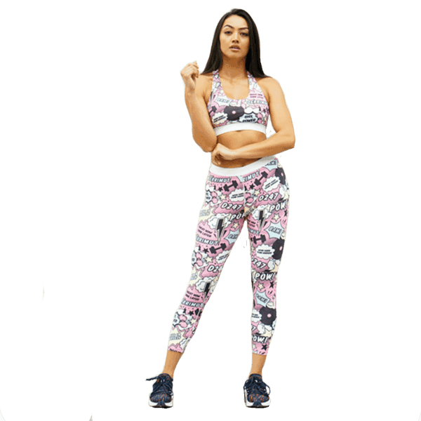 Derrimut 24:7 Gym Ladies 'Pop Art' Leggings - Pink