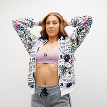 Load image into Gallery viewer, Derrimut 24:7 Gym Unisex 'Pop Art' Jacket - White