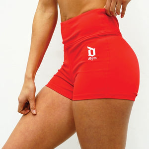 Derrimut 24:7 Gym Ladies Booty Shorts - Red