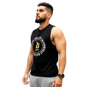 Derrimut 24:7 Gym Men's Gold D Singlet