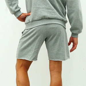Derrimut 24:7 Gym Men's Frayed Track Shorts - Grey