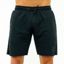 Load image into Gallery viewer, Derrimut 24:7 Gym Men's Frayed Track Shorts - Black