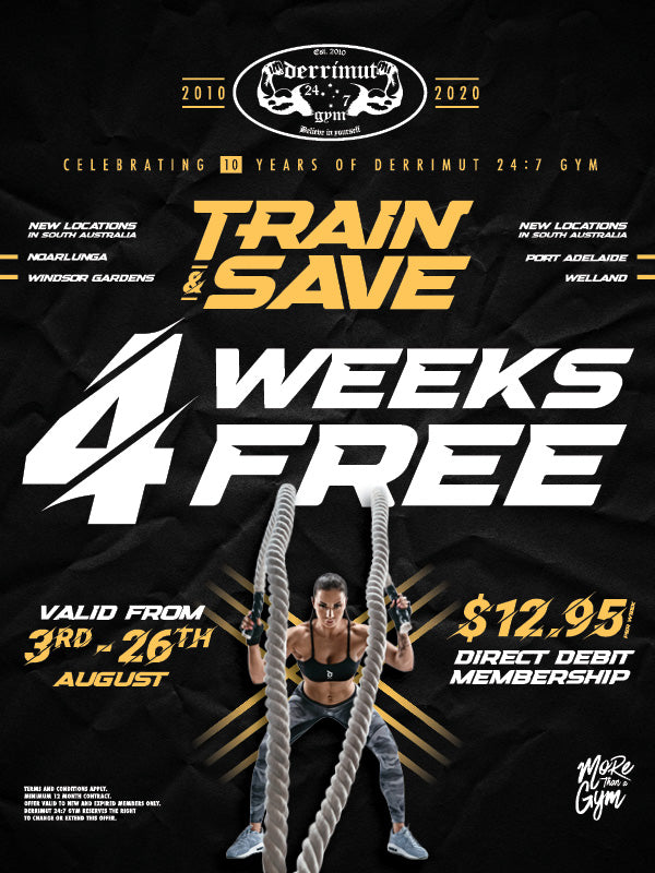 TRAIN & SAVE - 4 WEEKS FREE