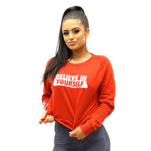 Load image into Gallery viewer, Derrimut 24:7 - LADIES Believe In Yourself JUMPER - RED
