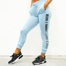 Load image into Gallery viewer, Derrimut 24:7 Ladies Believe in Yourself Track Pants - Blue