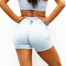 Load image into Gallery viewer, Derrimut 24:7 - Ladies Premium Scrunch Booty Shorts - Blue